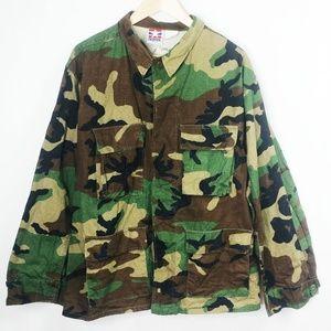 Size Medium Camoflouge Button Up Jacket C